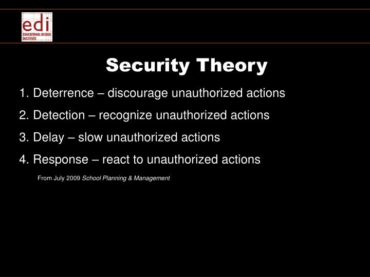 Security Theory
