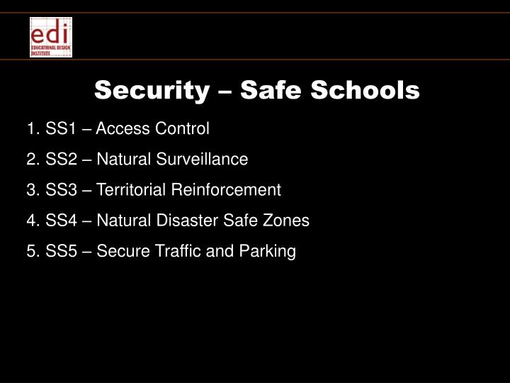 Security – Safe Schools