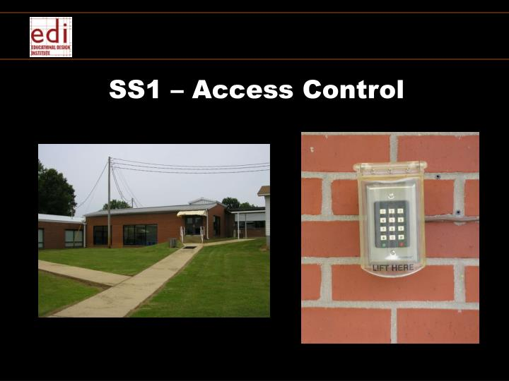 SS1 – Access Control