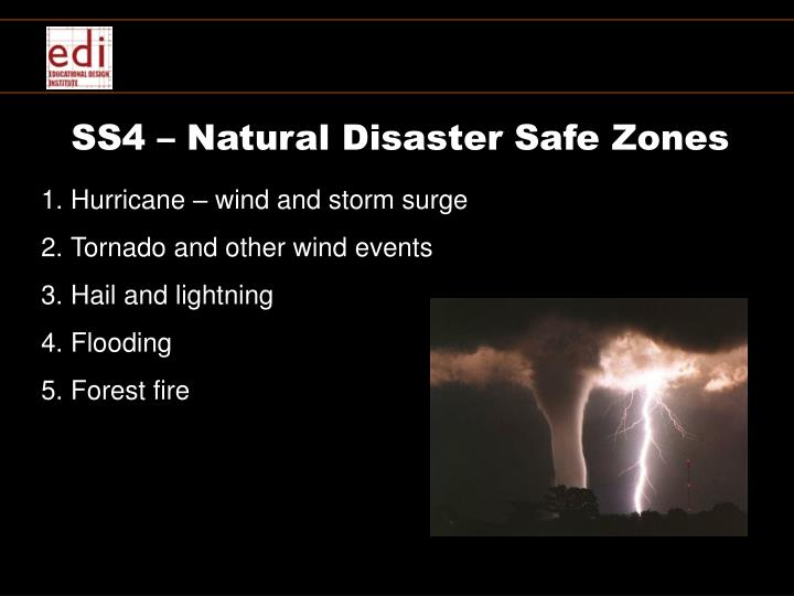 SS4 – Natural Disaster Safe Zones