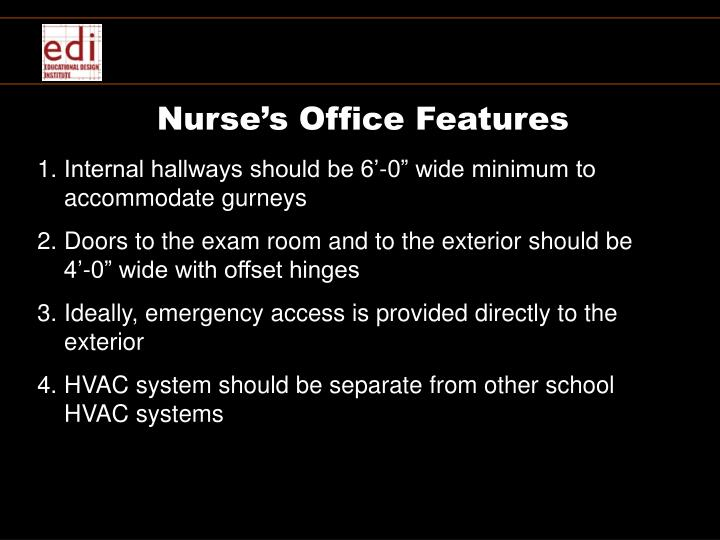 Nurse's Office Features