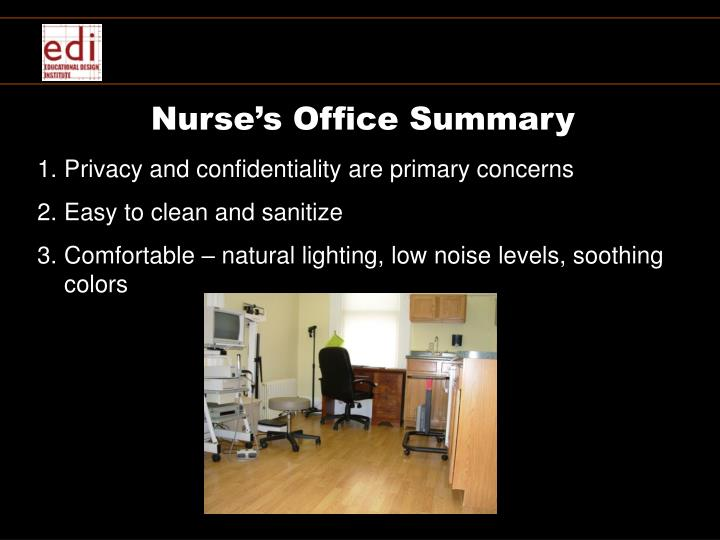 Nurse's Office Summary