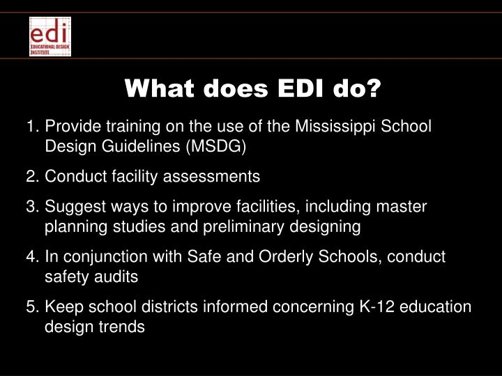What does EDI do?