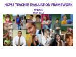 hcpss teacher evaluation framework update may 20121
