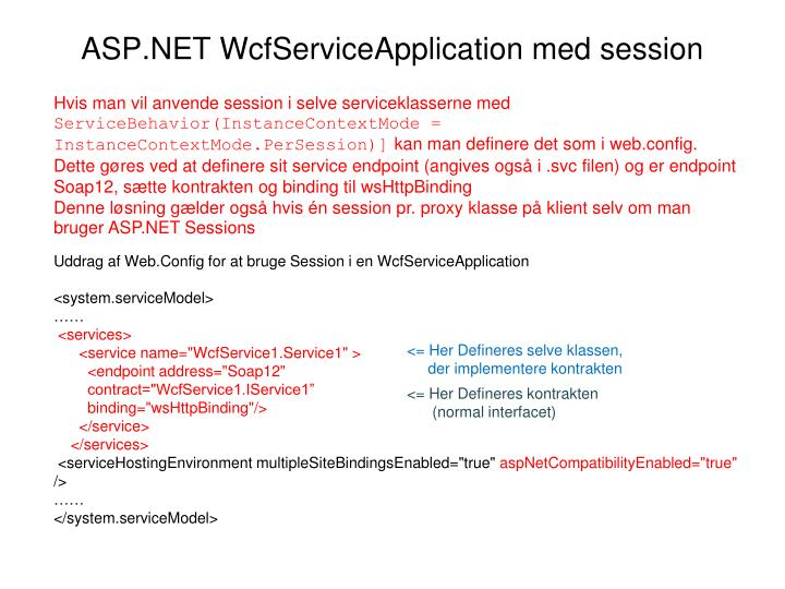 ASP.NET WcfServiceApplication med session