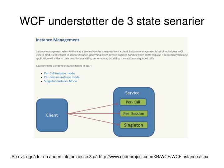 WCF understøtter de 3 state senarier