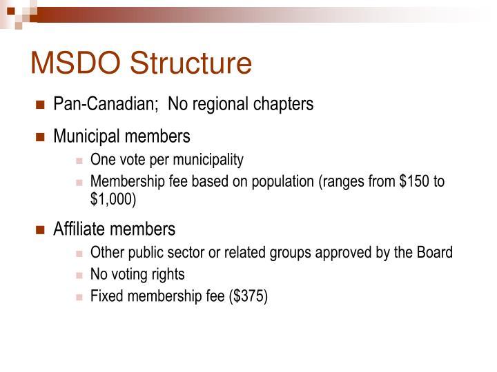 MSDO Structure