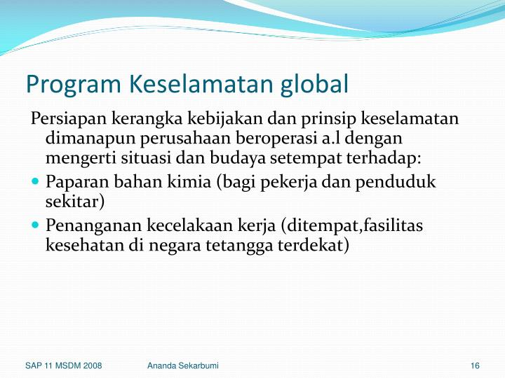 Program Keselamatan global