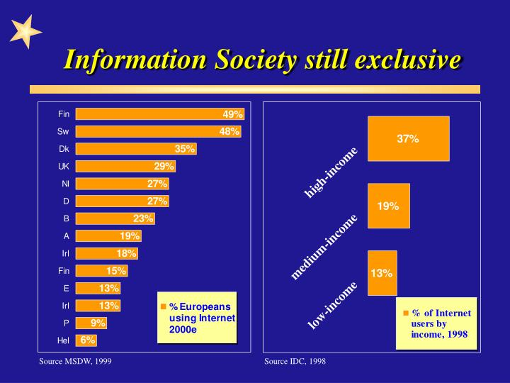 Information Society still exclusive
