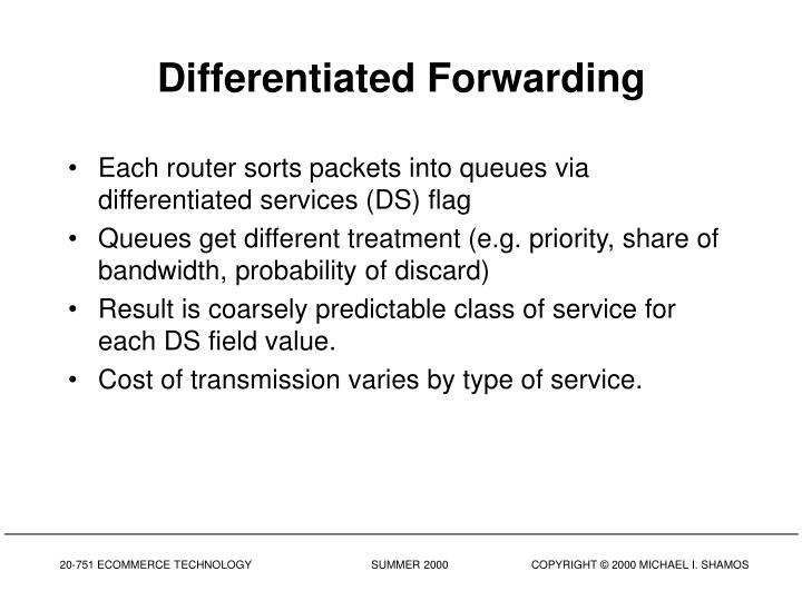Differentiated Forwarding