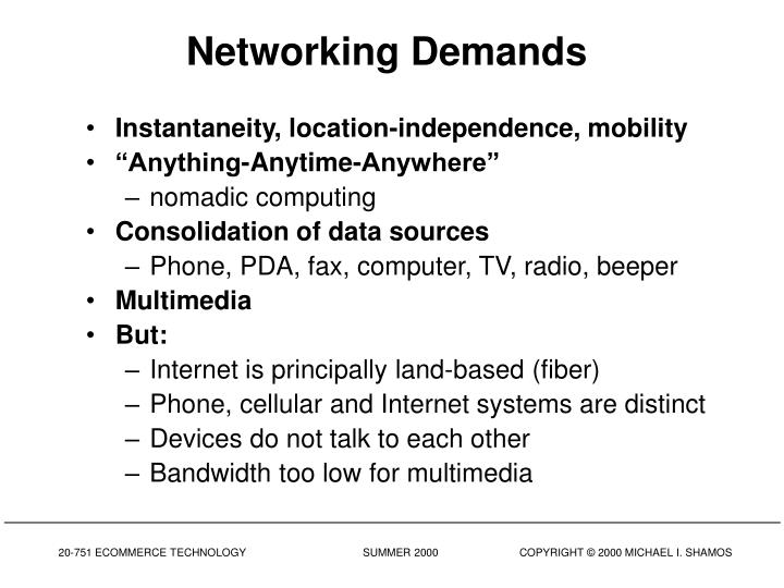 Networking Demands