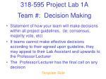 team decision making