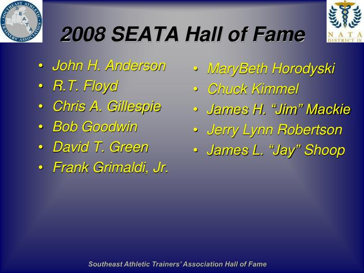 2008 SEATA Hall of Fame