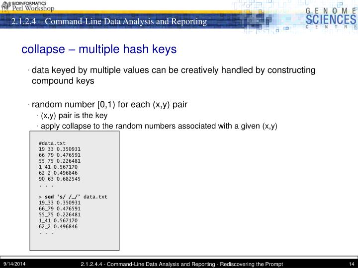 collapse – multiple hash keys