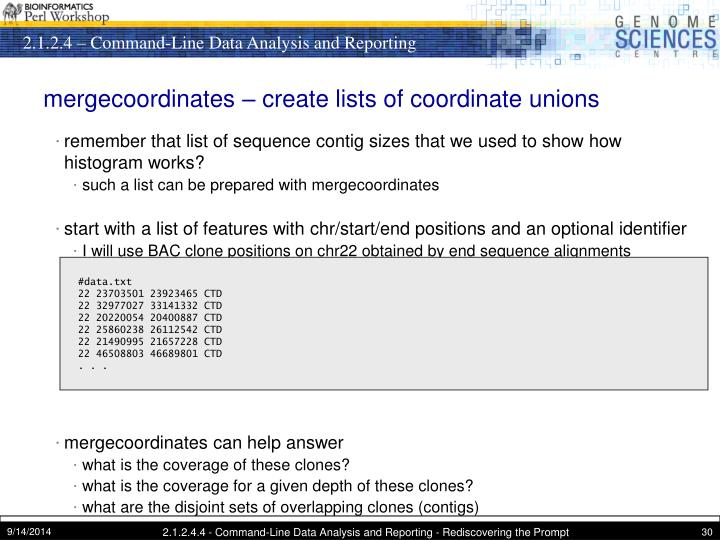 mergecoordinates – create lists of coordinate unions
