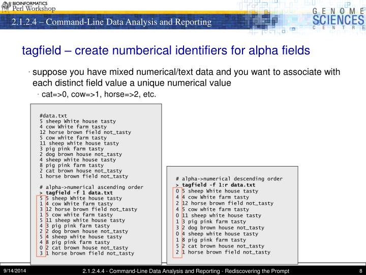 tagfield – create numberical identifiers for alpha fields