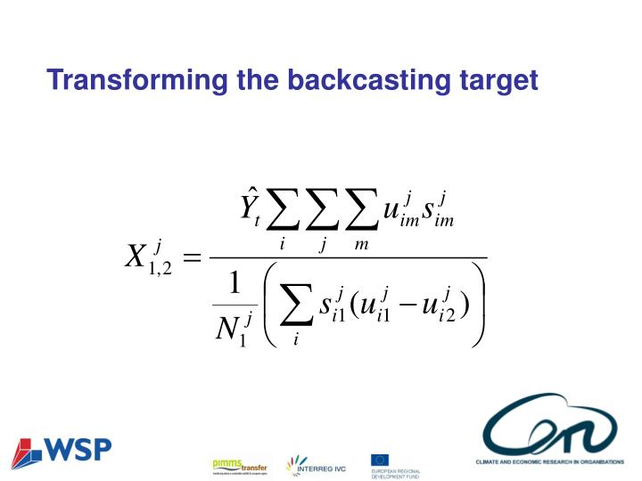 Transforming the backcasting target