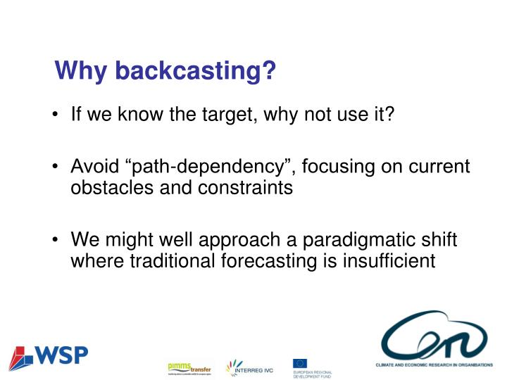 Why backcasting?