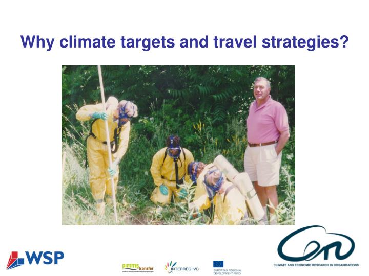 Why climate targets and travel strategies?