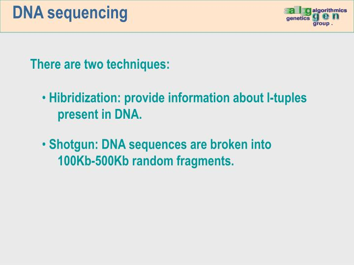 DNA sequencing