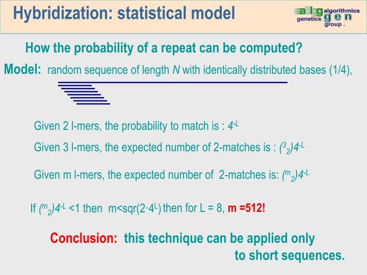 Hybridization: statistical model