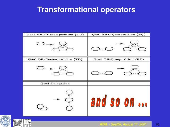 Transformational operators