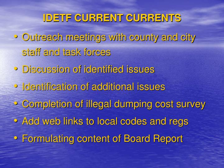 IDETF CURRENT CURRENTS