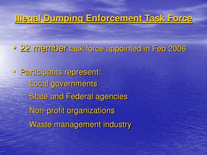 Illegal Dumping Enforcement Task Force