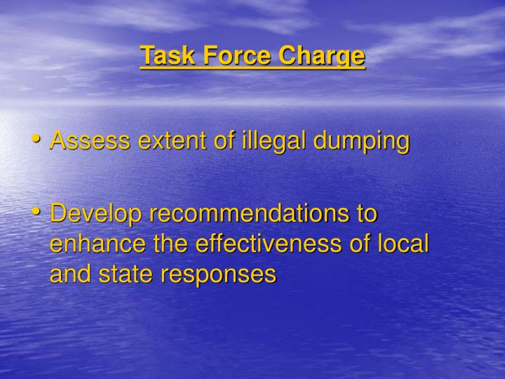 Task Force Charge