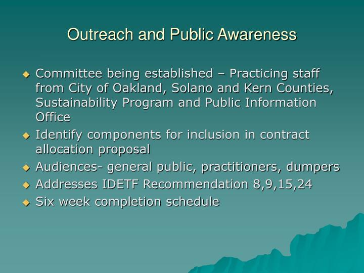 Outreach and Public Awareness