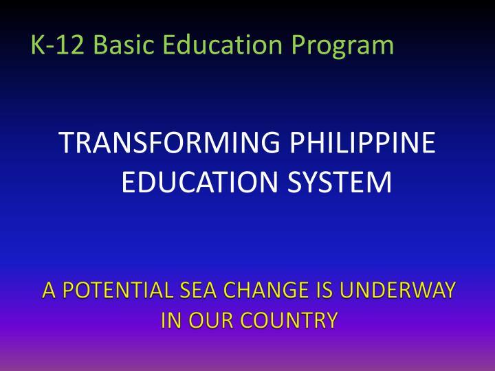 K-12 Basic Education Program