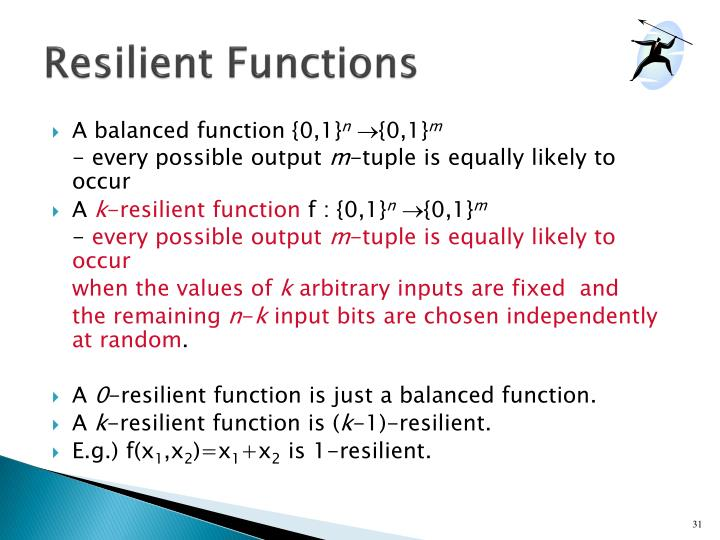 Resilient Functions