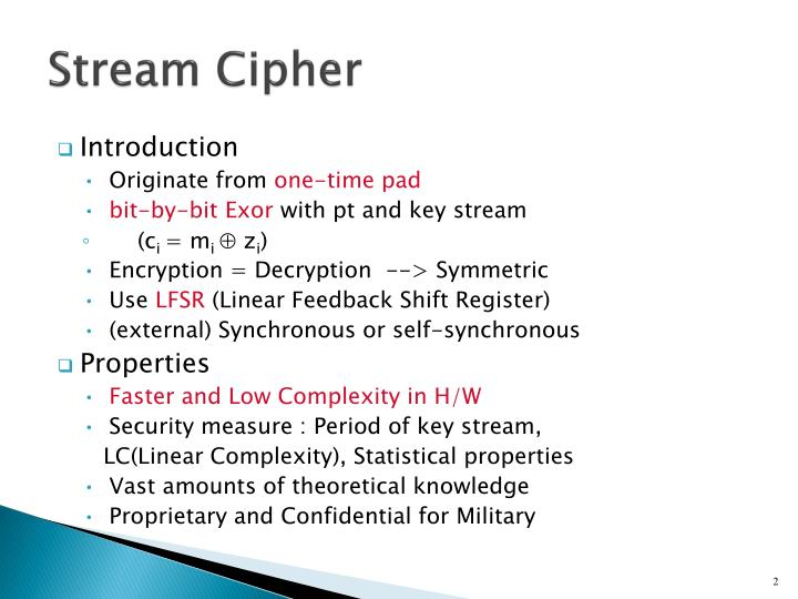 Stream cipher1