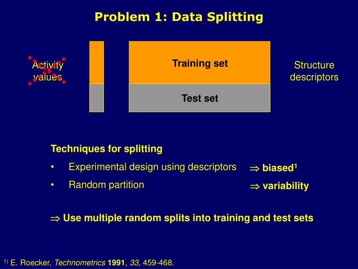 Problem 1: Data Splitting