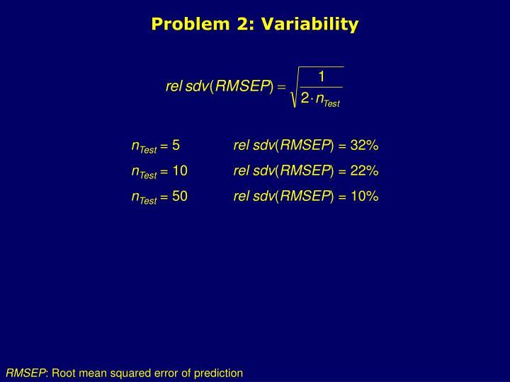 Problem 2: Variability