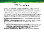 em overview