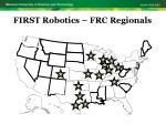 first robotics frc regionals