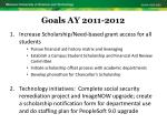 goals ay 2011 20121