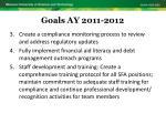 goals ay 2011 20122