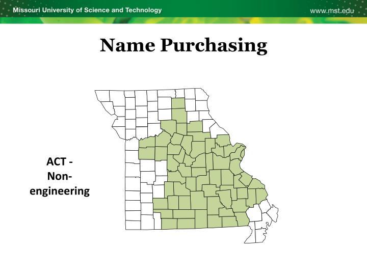 Name Purchasing