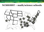 ncsssmst math science schools