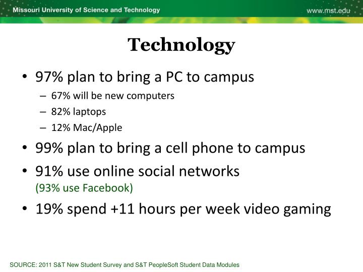 97% plan to bring a PC to campus