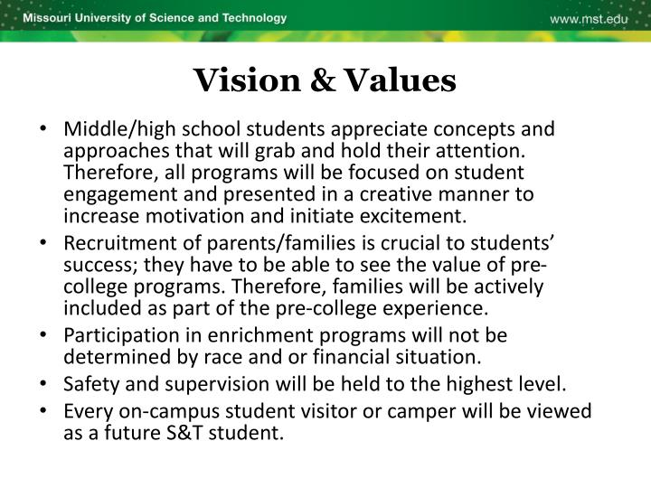 Vision & Values