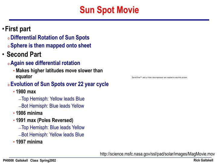 Sun Spot Movie