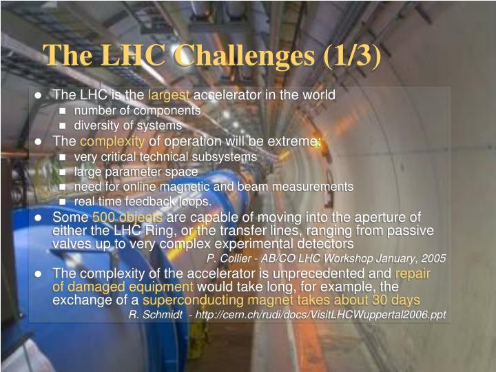 The LHC Challenges (1/3)