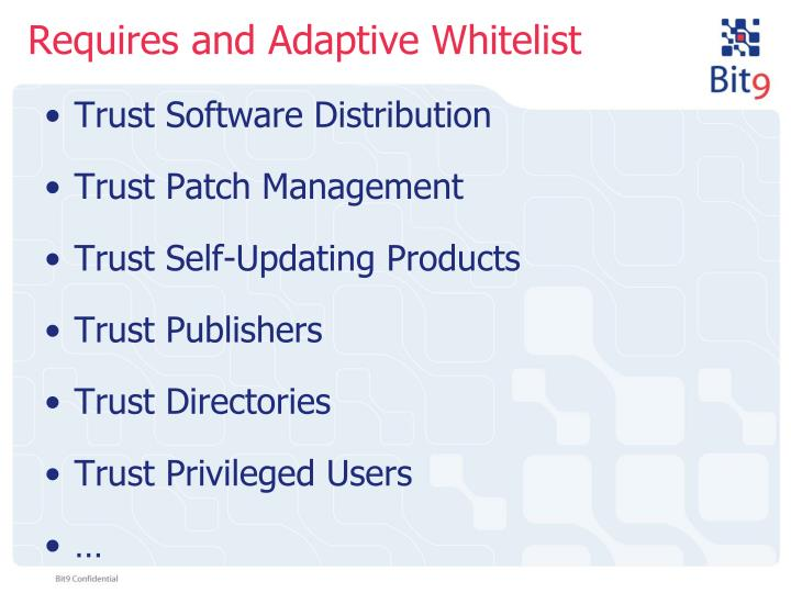 Requires and Adaptive Whitelist