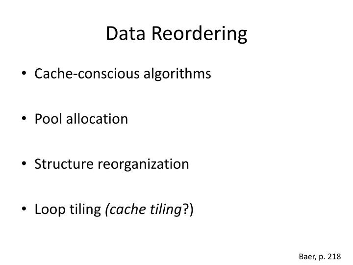 Data Reordering