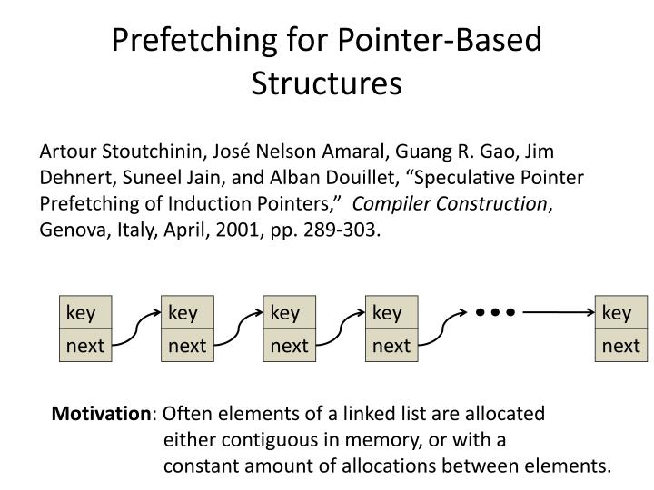 Prefetching for Pointer-Based Structures