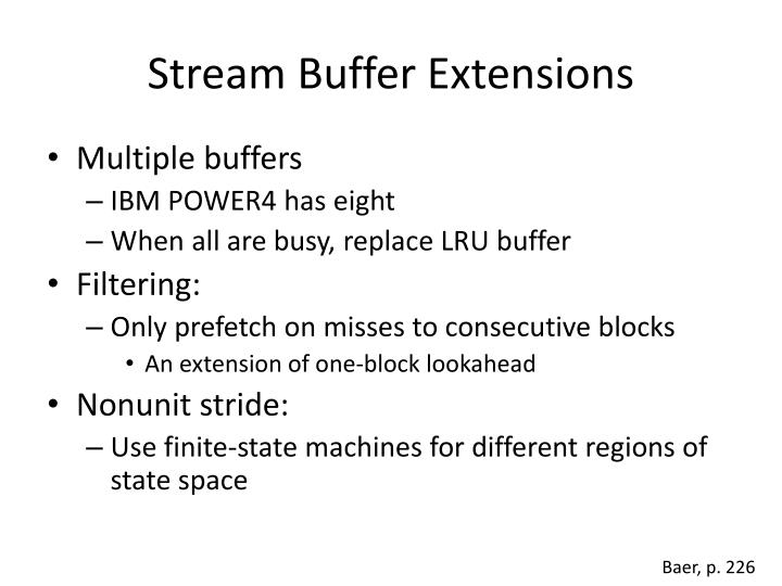 Stream Buffer Extensions