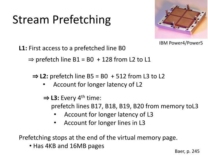 Stream Prefetching
